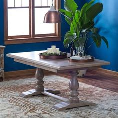 extension trestle dining table - Google Search