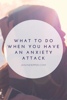 Here are some of the things I try when I feel an anxiety attack coming on. Keep in mind they won't work for anyone, but there may be something helpful here for you!
