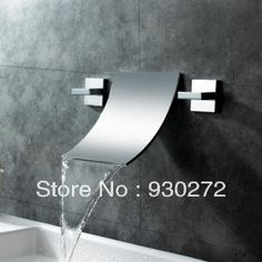 Designer Bathroom Sink Faucets Mesmerizing Inspiration Silver Glide Waterfall Stainless Steel Faucet With Two Handle