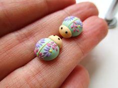 Miniature Ladybug earrings Stud earrings Cute earrings Ladybug jewelry Ladybug gifts Polymer clay jewelry Polymer clay earrings by StoriesMadeByHands on Etsy https://www.etsy.com/uk/listing/584399344/miniature-ladybug-earrings-stud-earrings