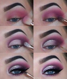 Natural Smokey Eye Makeup Make You Brilliant eye makeup tutorial; eye makeup for brown eyes; eye makeup for brown eyes; Eye Makeup Steps, Makeup Eye Looks, Smokey Eye Makeup, Makeup For Brown Eyes, Cute Makeup, Gorgeous Makeup, Eyeshadow Makeup, Makeup Brushes, Pink Smokey Eye