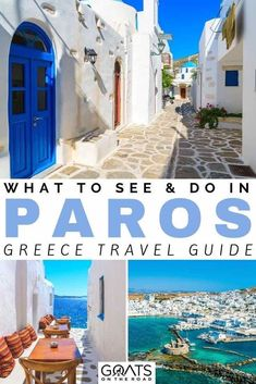 Planning a vacation to Paros Greece? We've got your itinerary sorted, with tips on what to see and do. Whether you want to explore the many beautiful beaches, eat delicious food at the restaurants, or explore the white sugar cube towns and villages, we've Europe Travel Tips, European Travel, Travel Destinations, Travel Guide, Travel Hacks, Travel Packing, Budget Travel, Travel Ideas, Greece Itinerary