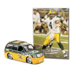Green Bay Packers 2005 NFL Limited Edition Die-Cast 1:64 Cadillac Escalade with Brett Favre Trading Card by Fleer  $6.99
