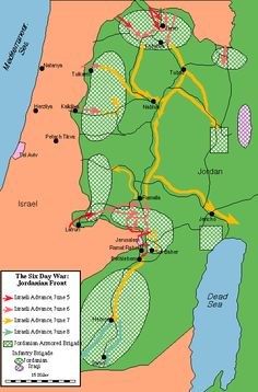 Map of the The Jordanian Front (June 1967) | Jewish Virtual Library