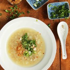 Chao is a Vietnamese rice soup that hits the spot when you are feeling sick. It makes you sweat all the toxins out of your body.