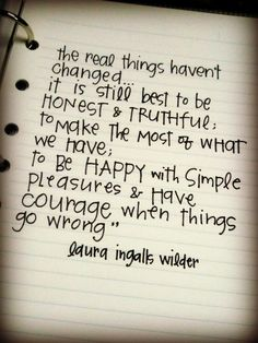 Laura Ingalls Wilder. Favorite.