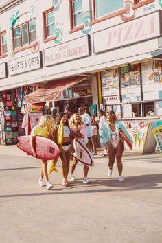 #NewWave girl gang hitting the Venice Boardwalk #surfinginspiration #surfingquotes
