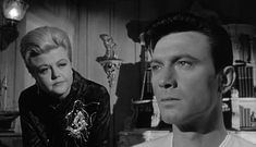 """""""The Manchurian Candidate"""" Lansbury as the darkest mum ever, w/ Laurence Harvey (btw, she was only 3 years older than Harvey)"""