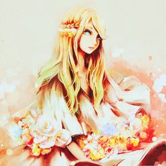 Lyria is a sweet girl with long blonde hair and pretty blue eyes. Description from immortal-darkness.weebly.com. I searched for this on bing.com/images