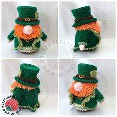St Patricks Day Leprechaun Gonk Outfit Free Crochet Pattern
