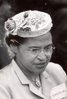 Rosa Parks (April 4, 1913 - October 24, 2005) was an American civil rights activist. Became a symbol for the time, when she refused to give up her seat on a public bus for a white passenger. Leader of NAACP. See: Montgomery Bus Boycott