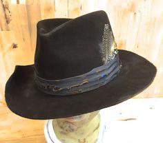 SOLD beaver fur felt handmade men's distressed western fedora hat by hatWRKS on Etsy https://www.etsy.com/listing/236661508/beaver-fur-felt-handmade-mens-distressed