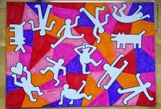 Juf Jaydee: Keith Haring look-a-like