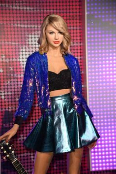 Taylor's wax figure from Madame Tussauds in Hong Kong was revealed today! - Google Search