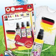 Bereit für die Fußball EM! Coole Fan-Outfits besprühen mit dem #Marabu #Fashion-Spray.