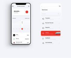 Alfa-Bank – Redesign on Behance mobile bank Web Design, App Ui Design, Interface Design, User Interface, Design Layouts, Flat Design, Card Ui, App Design Inspiration, Mobile Ui Design