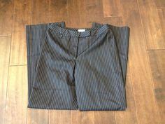 Ann Taylor LOFT Women Black Pinstriped Dress Pants Size 10 #AnnTaylorLOFT #DressPants