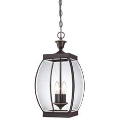 Let this hanging outdoor light from the Quoizel Oasis collection be the focal point in your outdoor decor. 20 high x wide. Style # at Lamps Plus. Lighting Showroom, Patio Lighting, Outdoor Hanging Lights, Outdoor Decor, Sloped Ceiling, Ceiling Lights, Candelabra Bulbs, Glass Panels, Bronze Finish
