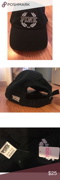 NWT PINK baseball cap! Brand new PINK baseball cap in black!! Never worn, in perfect condition! Fits a tad small compared to some other baseball caps. PINK Victoria's Secret Accessories Hats