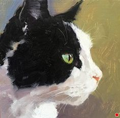 """Daily Paintworks - """"Little Warrior"""" - Original Fine Art for Sale - © Katya Minkina Cat Drawing, Painting & Drawing, Cat Sketch, Watercolor Cat, Guache, Animal Paintings, Dog Art, Oeuvre D'art, Pet Portraits"""