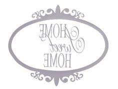 Home sweet home Printable Labels, Printable Designs, Printables, Diy Y Manualidades, Foto Transfer, Typography, Lettering, Vintage Labels, Mirror Image