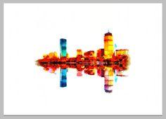 boston skyline print