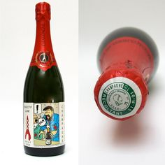 """HERGÉ . Tintin - Bouteille de Champagne Brochet Hervieux """"Objectif Lune"""" Herge Tintin, 1st Birthday Parties, Birthday Ideas, Champagne Bottles, Animated Cartoons, Latest Books, Human Condition, Photos, Comic Books"""