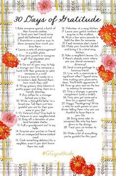 30 Days Of Gratitude (via Bloglovin.com )
