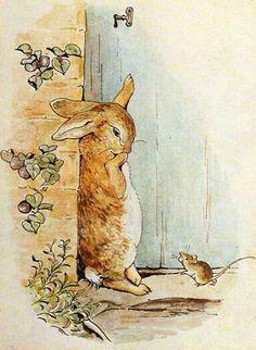 """"""" Pierre lui demanda le chemin à prendre pour rejoindre le portail, mais elle avait un si gros pois dans la bouche qu'elle ne pouvait pas lui répondre. Elle se contenta de le regarder en hochant la tête. Pierre se mit à pleurer. """" ~ The tale of Peter Rabbit"""