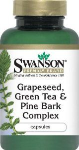 Swanson - Premium Grapeseed, Green Tea & Pine Bark Complex (60 Capsules) 3 Bottles by Swanson. $16.50. A potent combination for broad spectrum protection. Loaded with polyphenols from green tea extract and proanthcyanidins found in pine bark and grapeseeds. Antioxidant Booster. Promotes Optimal Cardiovascular Health. Dietary Supplement. This economical formula combines the powerful polyphenols of green tea with the oligomeric proanthocyanidins found in pine bark and gra...