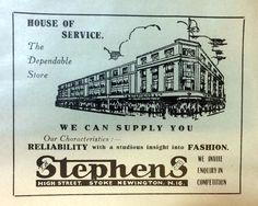 Stephens Store advert printed by W H Jones 127 Green Lanes N16