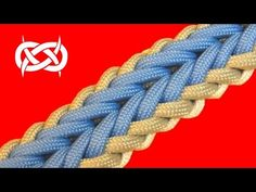 How to make a Woven Falls Sinnet Paracord Bracelet - YouTube