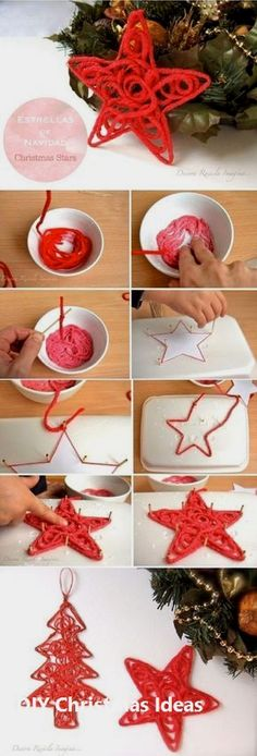 DIY Christmas Star Ornament Fun, easy, and inexpensive hobby ideas. How to Make a Star Christmas Tree Ornament –…THE BEADERY-Holiday Beaded Ornament Kit. These…FIVE Beaded Christmas Ornament Hooks – Wire… Diy Christmas Star, Christmas Crafts For Kids, Homemade Christmas, Christmas Projects, All Things Christmas, Holiday Crafts, Christmas Holidays, Spring Crafts, Student Christmas Gifts