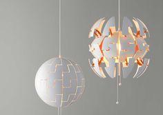 Lampen Ikea Plafond : Ikea ps 2014 pendant lamp white copper color ikea scandinavian