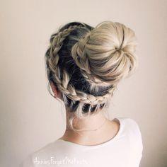 Dutch lace braid + dutch lace braided bun (ballerina bun)