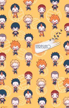ideas wallpaper anime haikyuu wallpapers for 2019 Anime Chibi, Manga Anime, Otaku Anime, Anime Guys, Anime Art, Haikyuu Karasuno, Nishinoya, Haikyuu Fanart, Haikyuu Anime