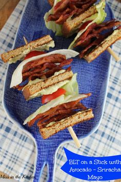 BLT on a Stick with Avocado Sriracha Mayo