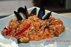 Risotto con le Cozze - http://cucinasuditalia.blogspot.it/2008/10/risotto-con-le-cozze.html