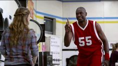 Dikembe Mutombo blocks crumpled paper, laundry, change and more before running away and laughing. How happy are people who switch to GEICO? Happier than Dikembe Mutombo blocking shots. All shots. Funny Commercials, Funny Ads, Hilarious, I Love To Laugh, Make Me Smile, Dikembe Mutombo, Classroom Memes, Classroom Posters, Basketball News