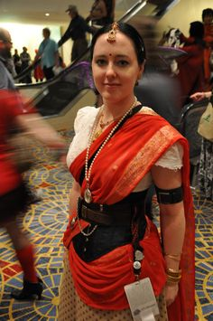 The Happy Goth in Indian steampunk. By Heather F.