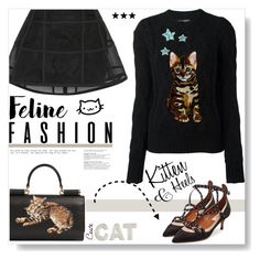 """""""& Kitten Heels..."""" by desert-belle ❤ liked on Polyvore featuring Dolce&Gabbana, Peter Pilotto, Valentino, dolceandgabbana, valentino, peterpilotto, polyvoreeditorial and catstyle"""