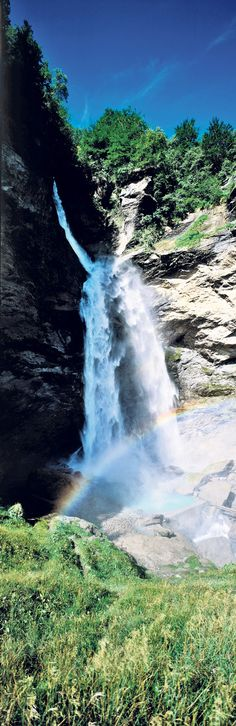 "Reichenbach Falls. Wh- why is there a rainbow? Excuse me? Mr Photographer? Yeah, can we edit that out? Make the sky gray or black? Add blood on the grass? ""Why?"" you ask? Because I'm a Sherlockian. Why should you care? Oh, I don't know...BECAUSE THAT'S WHAT PEOPLE DO!"