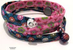 Wickelarmband Retroblümchen Armband von Kreawusel-Schmuck  auf DaWanda.com