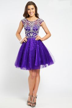 Short Purple Prom Dresses 2015