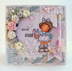 A Sprinkling of Glitter: From Your Friend - Simon Says Stamp DT Card