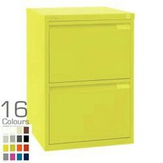 Shallow filing cabinet