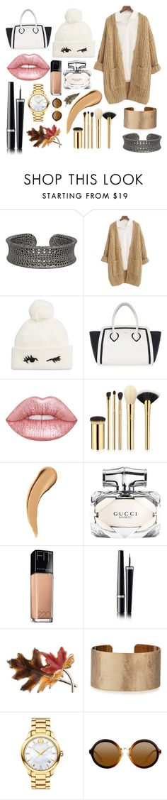 """Knitty"" by ella-routledge ❤ liked on Polyvore featuring Chicnova Fashion, Kate Spade, Furla, Lime Crime, tarte, Gucci, Maybelline, Chanel, Anne Klein and Panacea"