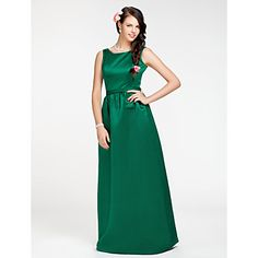 Sheath/Column Jewel Floor-length Satin Bridesmaid Dress  – USD $ 99.99 @Marisa Carolin  I LOVE THIS ONE!!! Very classy