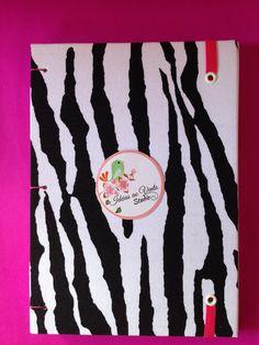 caderninho tecido de zebra