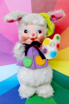 Vintage Rushton Company Artist Rabbit/Bunny by iamcaramelaw